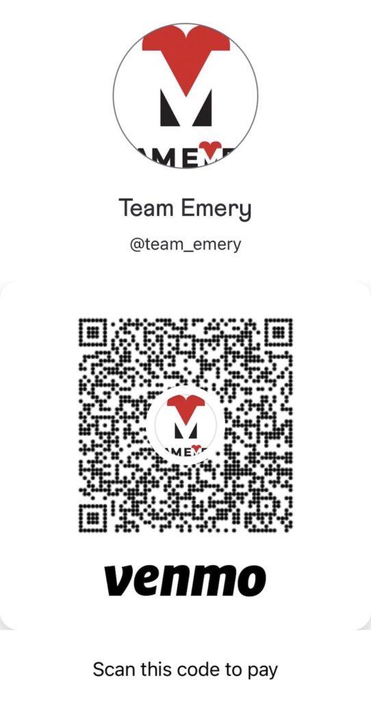 Team Emery Venmo